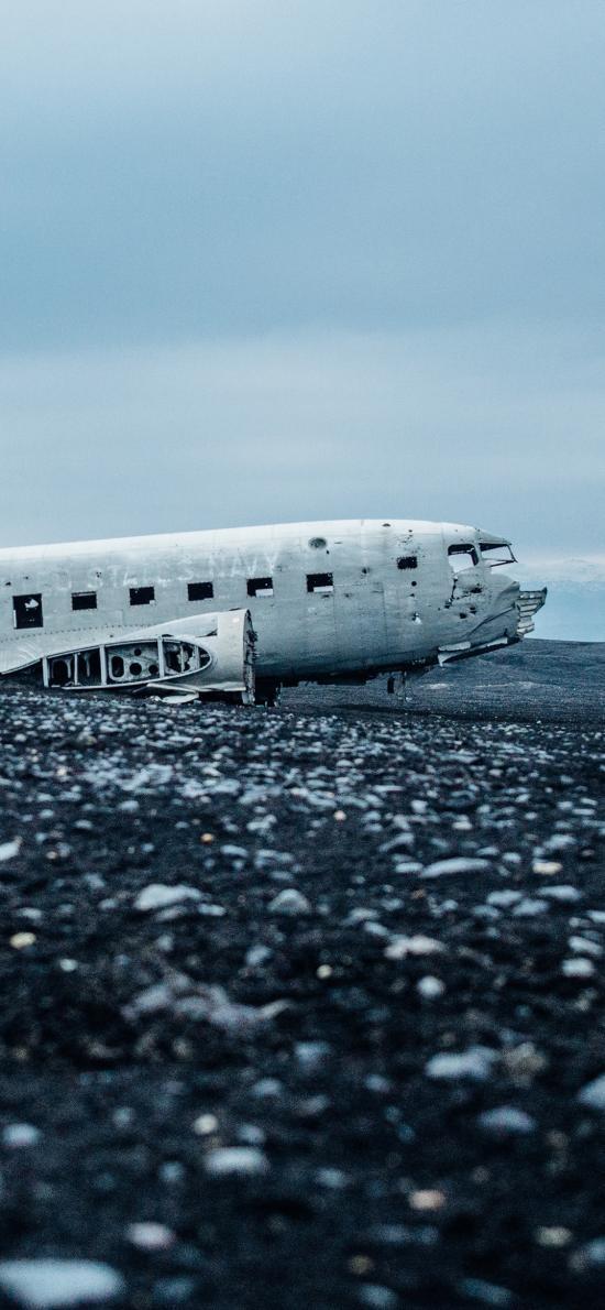 残骸 飞机 坠落 机身 损坏