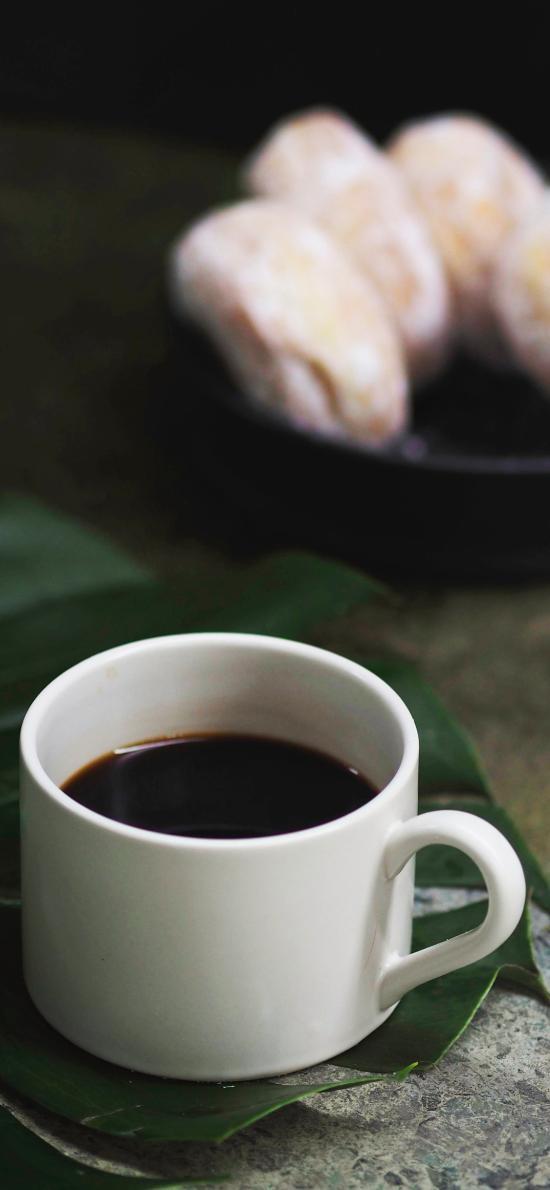 咖啡 鲜花 点心 静物