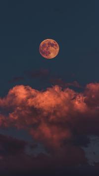 月亮 云彩 星球 彩霞
