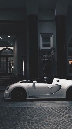超级跑车 炫酷 黑白 街道