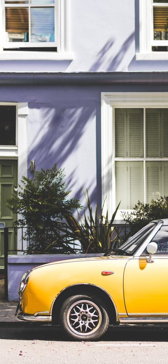 汽车 街道 房屋 复古 老式
