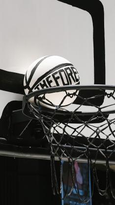 篮球 球框 篮板 黑白 运动