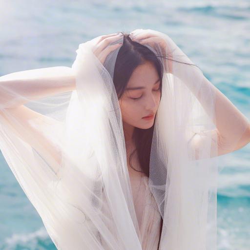 张馨予 演员 明星 艺人 唯美 纱
