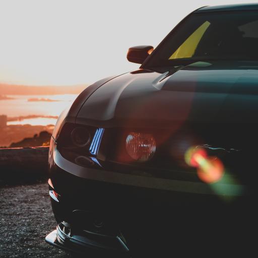 汽车 车头 轿车 车灯