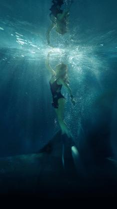 巨齿鲨 电影 海报 鲨鱼 海底 凶猛 李冰冰