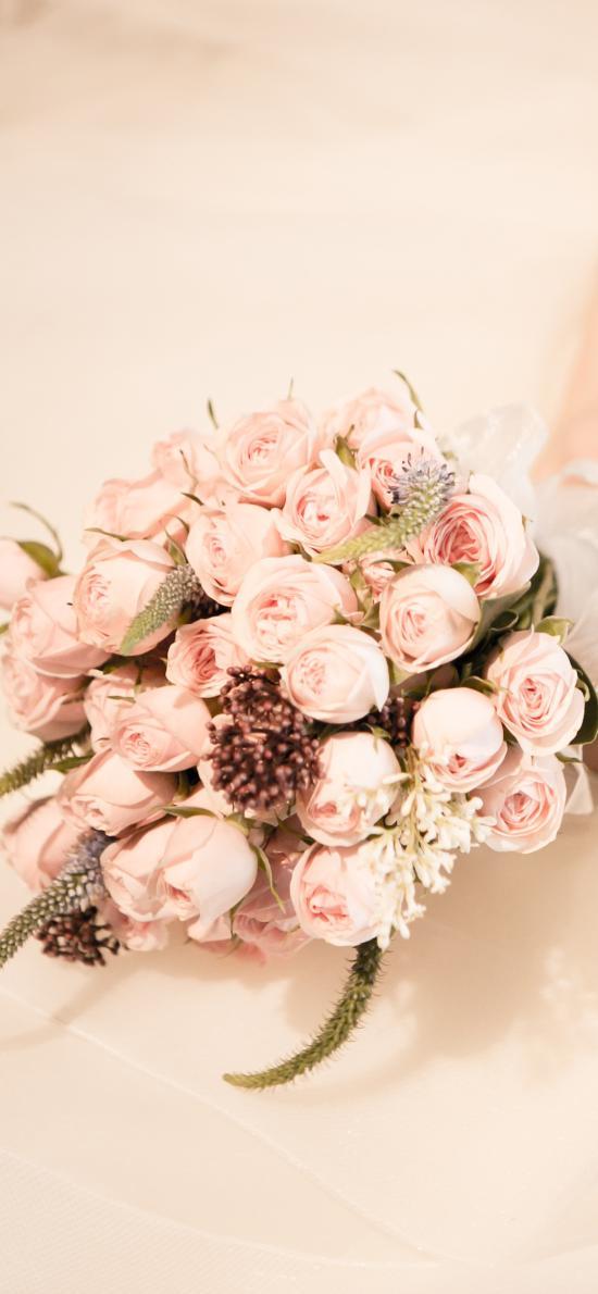 手捧花 鲜花 玫瑰 花束 婚纱 新娘