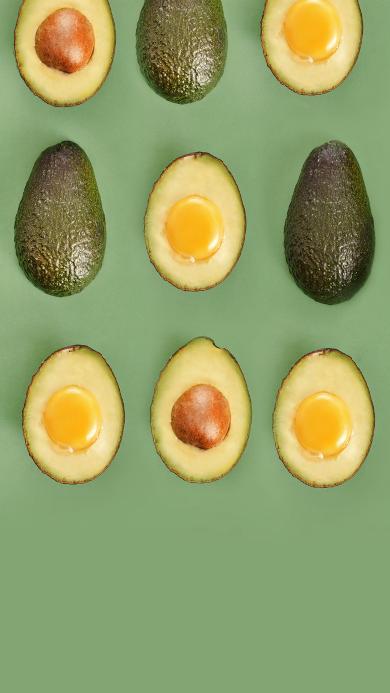牛油果 水果 排列 绿色 水果