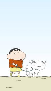 蜡笔小新 小白 狗 动画 卡通 日本