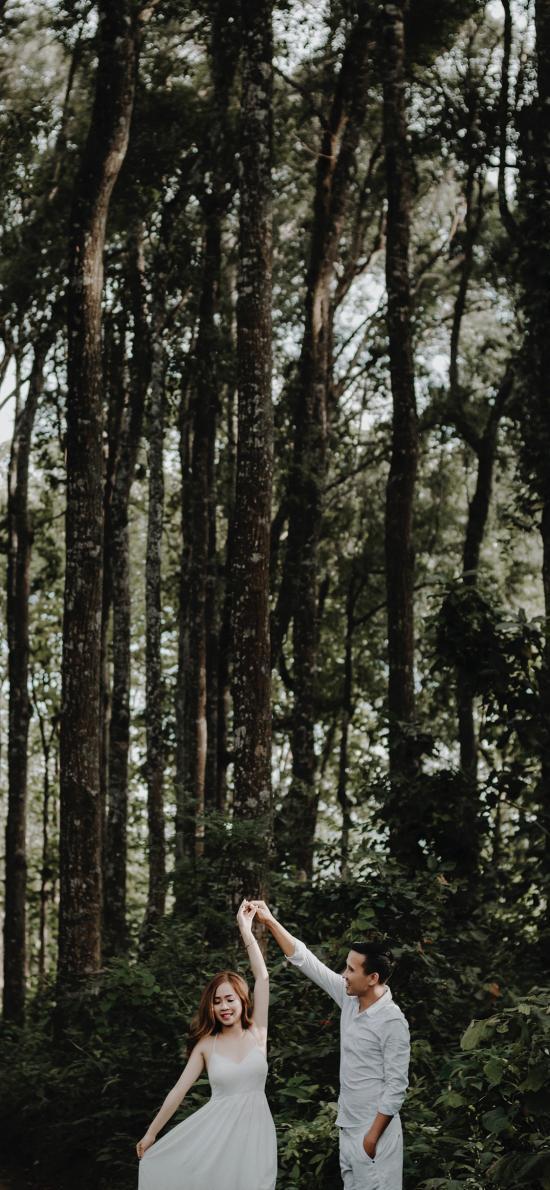 森林 情侣 写真 恩爱