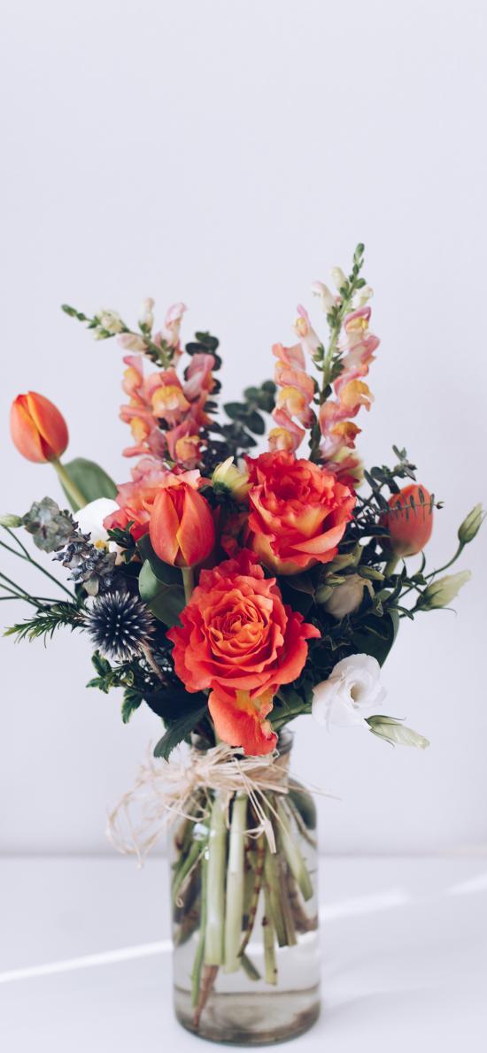 鲜花 花束 花瓶 玻璃瓶
