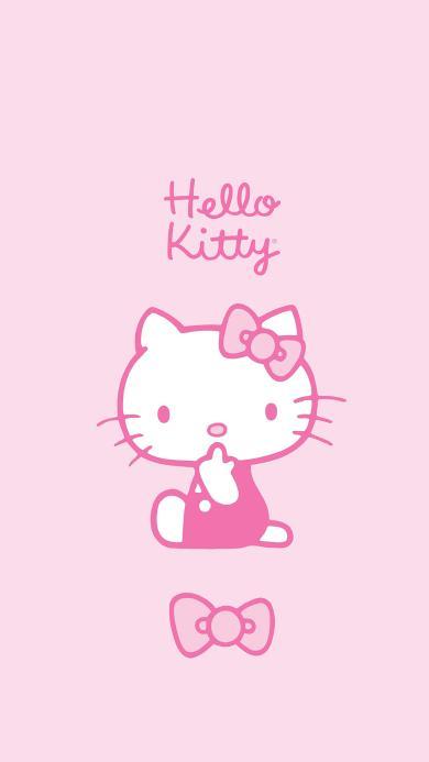 Hello kitty 动画 卡通 粉色 蝴蝶结