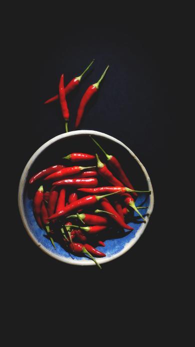 辣椒 食材 鲜红 调味