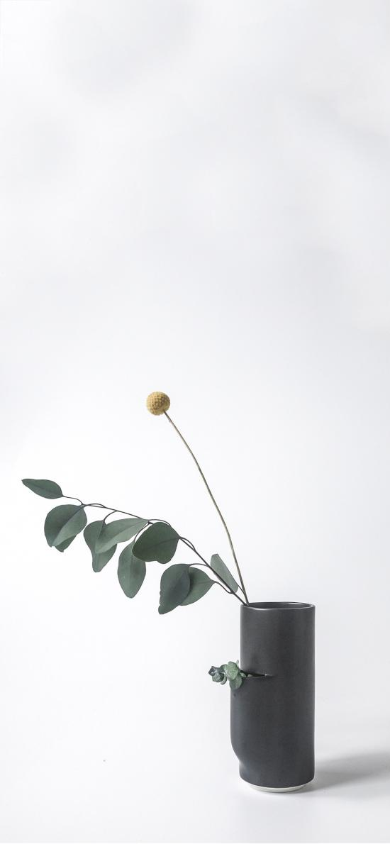 花瓶 插花 灰胡杨 简约