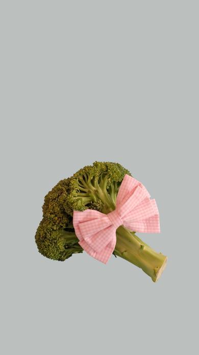 西蓝花 蔬菜 蝴蝶结 特写