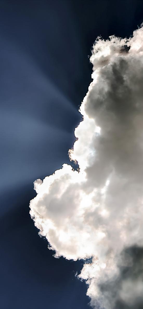天空 蓝天白云 透光