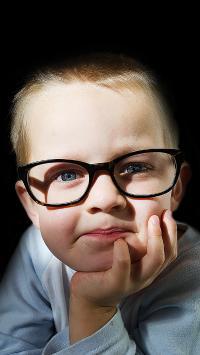 小男孩 可爱 欧美 镜框 孩子 儿童