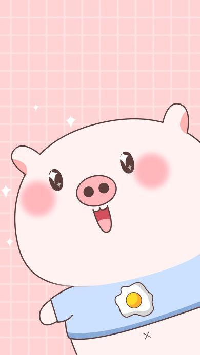 猪 可爱 卡通 粉色