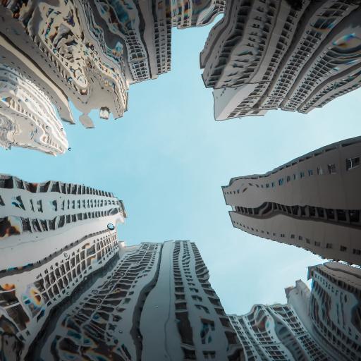 城市 建筑 高楼 扭曲