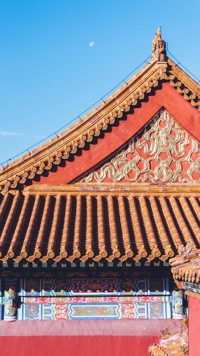 故宫 建筑 瓦片 屋檐