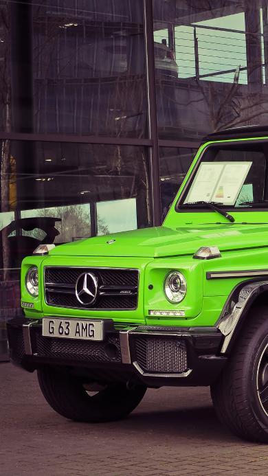 奔驰 吉普 越野车 绿色