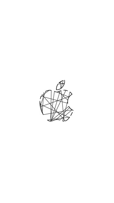 苹果 logo 品牌 商标 线 白色