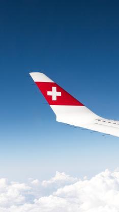 尾翼 瑞士 飞机 客机 航空 天空