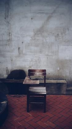 家具 木椅 马赛克 瓷砖