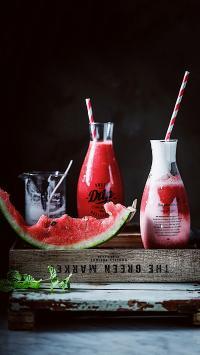 饮品 鲜榨果汁 西瓜汁