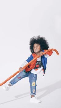 欧美 小男孩 童模 绳索
