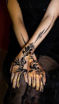手臂 纹身 艺术 花纹