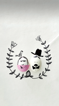 鸡蛋 创意 手绘 笑脸