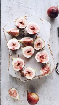 水果 新鲜 无花果 切半