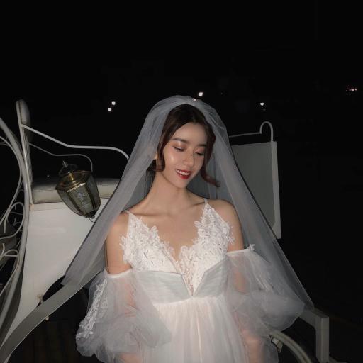 网红 六金 写真 婚纱