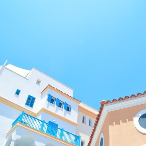 房屋 建筑 蓝色 小清新