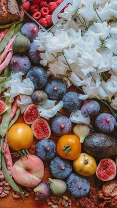 水果 丰富 种类 鲜花 密集