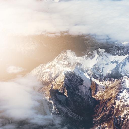 俯拍 山顶 云层 崇山峻岭