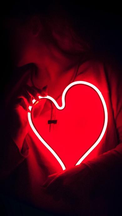 爱心 灯光 心形