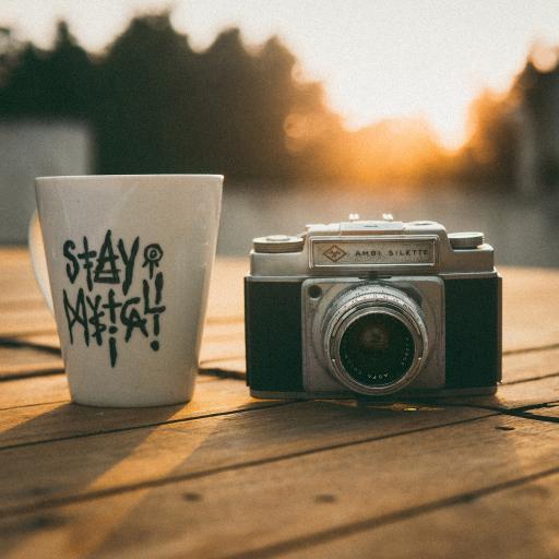 静物 相机 摄影 马克杯