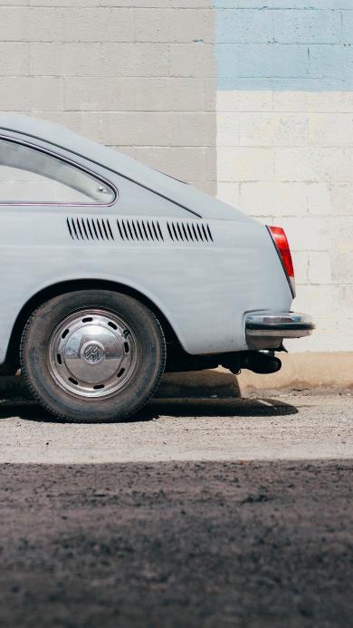 大众 汽车 尾部 轮胎