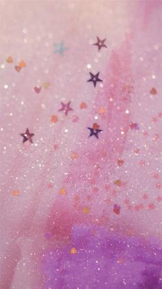 粉色系 亮片 星星 爱心