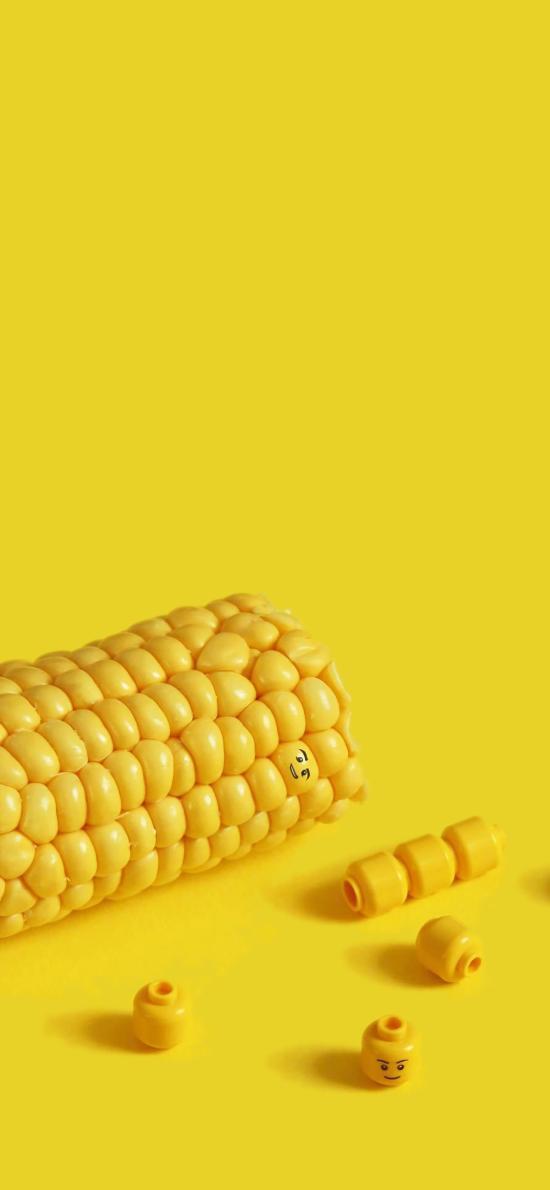玉米 黄色 粮食 颗粒 玩具