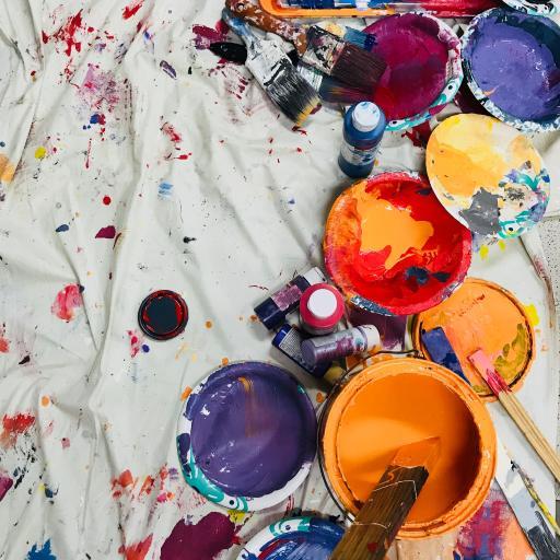 油彩 油漆 颜料 毛刷