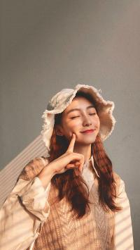 女孩 甜美 渔夫帽 可爱 长发