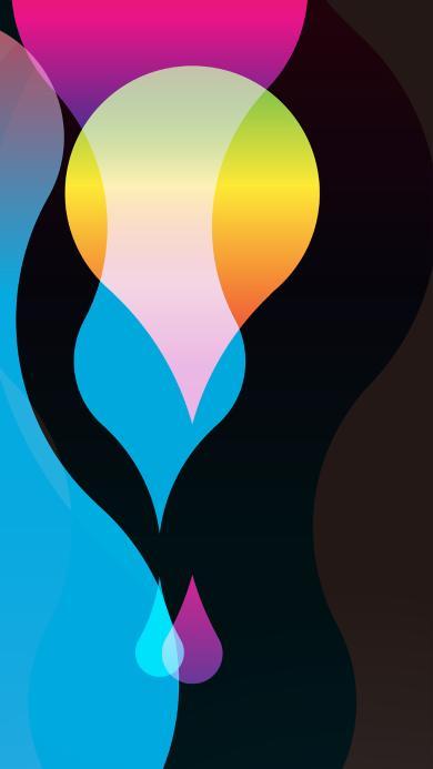 色彩 水滴 几何 平面 抽象