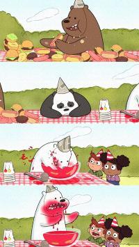 动画 咱们裸熊 派对 狂吃