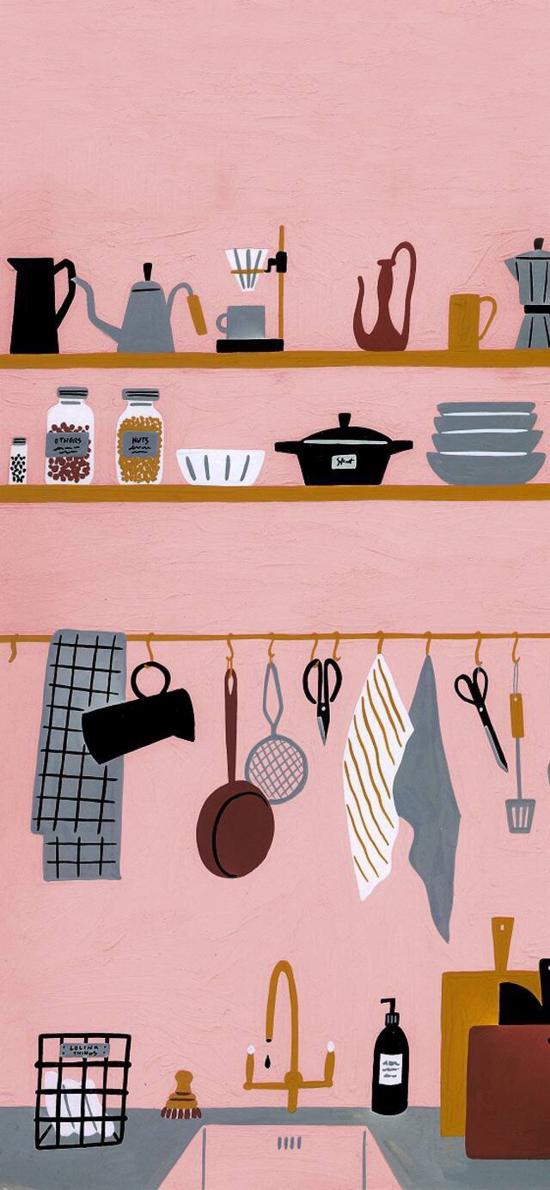 Madame Lolina插畫 廚房 餐具