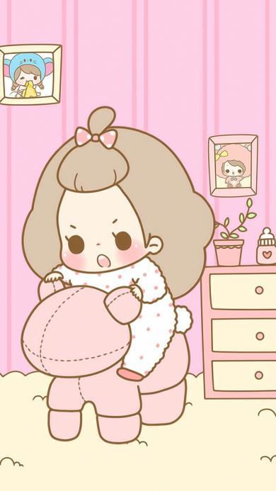 卡通 女孩 粉色系 可爱