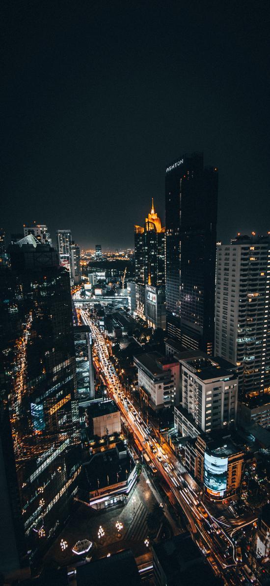城市 夜景 燈光 街道