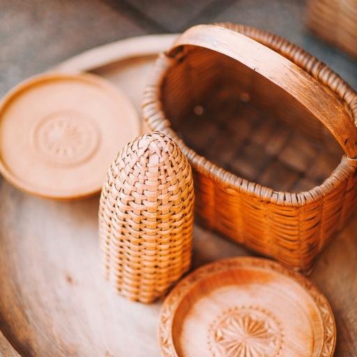 编织 手工 精致 木雕