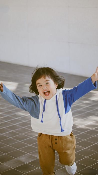 包饺子 包可艾 小女孩 可爱 欢乐